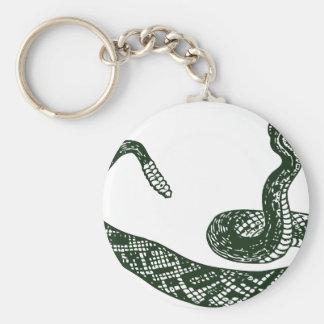 Rattlesnake Basic Round Button Keychain