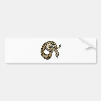 rattlesnake-bedazzled bumper sticker
