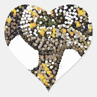 rattlesnake-bedazzled heart sticker