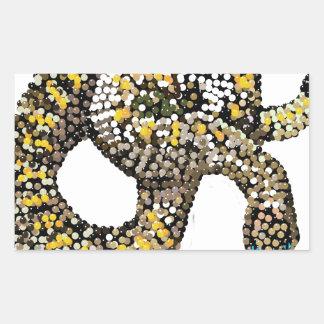 rattlesnake-bedazzled rectangular sticker