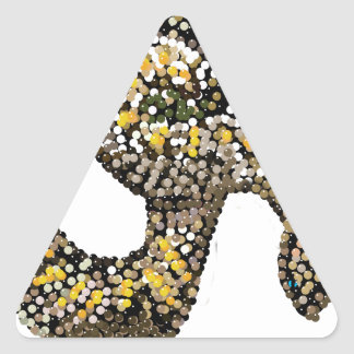 rattlesnake-bedazzled triangle sticker