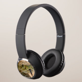 Rattlesnake Closeup Photo Headphones