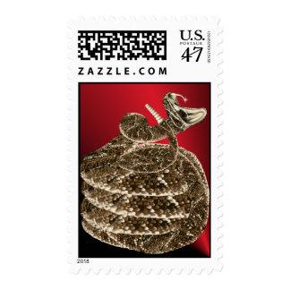 Rattlesnake fangs Postage