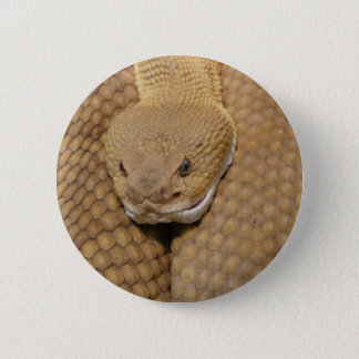 Rattlesnake Head Pinback Button