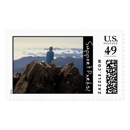 Rattlesnake Hiker Postage Stamp