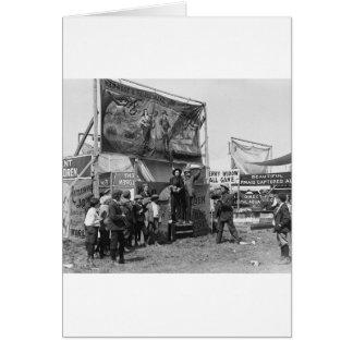 Rattlesnake Joe Sideshow, 1920s Card