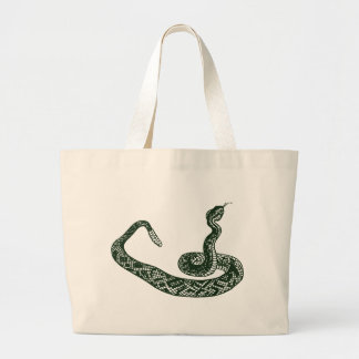 Rattlesnake Large Tote Bag