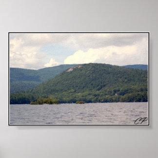 Rattlesnake Mountain and Squam Lake Photograph Poster