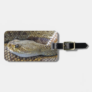 Rattlesnake photo bag tag