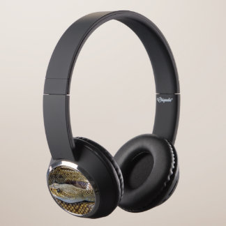 Rattlesnake photo headphones