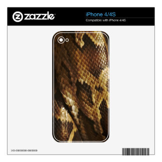 Rattlesnake Reptile Snake iPhone Skin Skins For iPhone 4