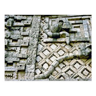 Rattlesnake Sculpture On Nunnery, Uxmal Postcards