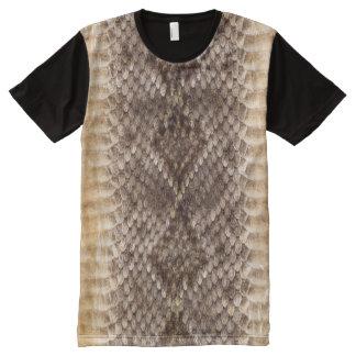 Rattlesnake Snake Skin All-Over-Print Shirt