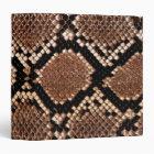 Rattlesnake Snake Skin Leather Faux 3 Ring Binder