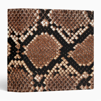 Rattlesnake Snake Skin Leather Faux 3 Ring Binder