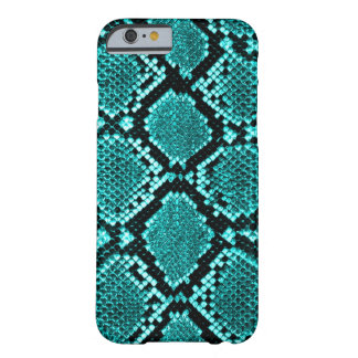 Rattlesnake Snake Skin Leather Faux blue Barely There iPhone 6 Case
