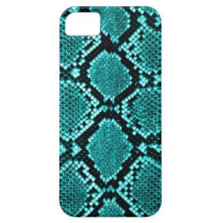 Rattlesnake Snake Skin Leather Faux blue iPhone 5 Cases