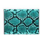 Rattlesnake Snake Skin Leather Faux blue iPad Mini Case