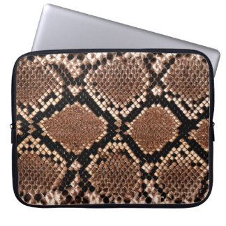 Rattlesnake Snake Skin Leather Faux Computer Sleeve
