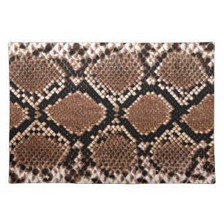 Rattlesnake Snake Skin Leather Faux Placemats