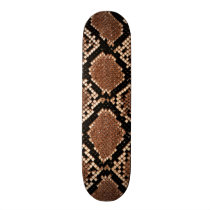 Rattlesnake Snake Skin Leather Faux Skateboard Deck
