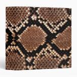 Rattlesnake Snake Skin Leather Faux Vinyl Binder
