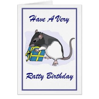 Ratty Birthday Greeting Card
