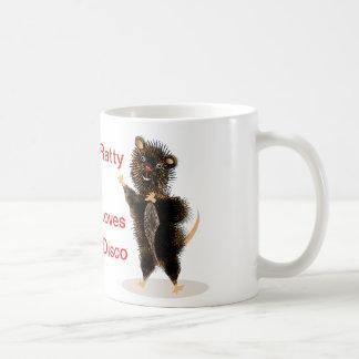 Ratty Loves Disco The Cute Funny  Whimsical Rat Mug