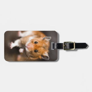 Ratty the hamster luggage tag