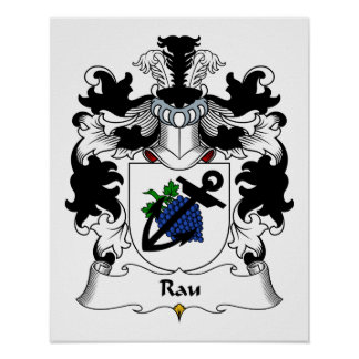 Rau Family Crest Poster