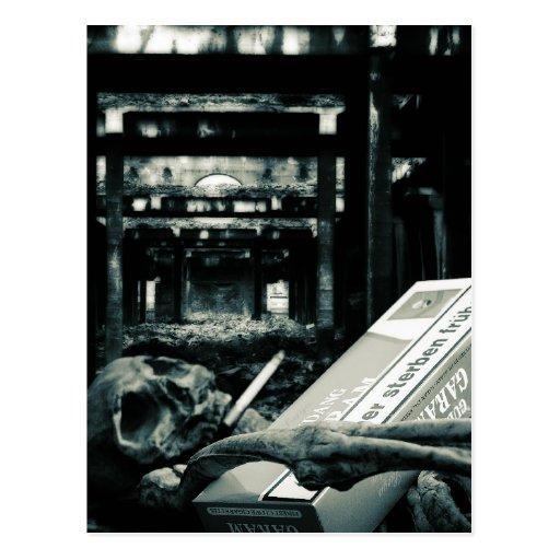 Raucher sterben früher postcard