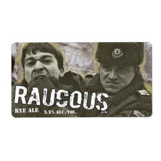 Raucous Rye Ale Label