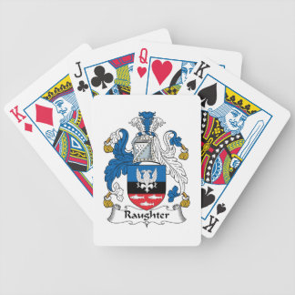 Raughter Family Crest Bicycle Poker Deck