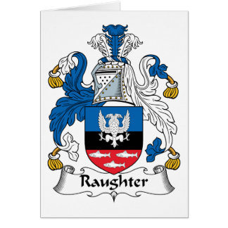 Raughter Family Crest Card