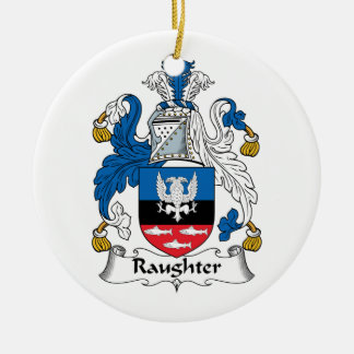 Raughter Family Crest Christmas Ornament