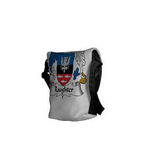 Raughter Family Crest Courier Bags