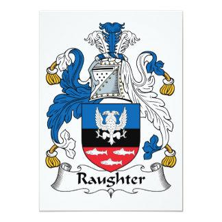 Raughter Family Crest Custom Invites