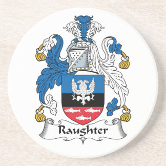Raughter Family Crest Drink Coasters