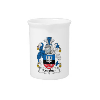 Raughter Family Crest Drink Pitchers