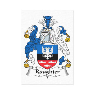 Raughter Family Crest Gallery Wrapped Canvas