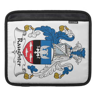 Raughter Family Crest iPad Sleeves