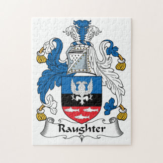Raughter Family Crest Jigsaw Puzzles