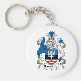 Raughter Family Crest Key Chains