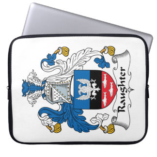Raughter Family Crest Laptop Computer Sleeve