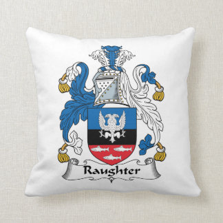 Raughter Family Crest Pillow