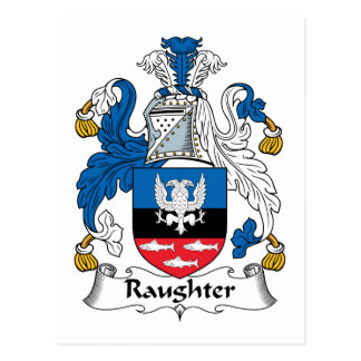 Raughter Family Crest Post Card