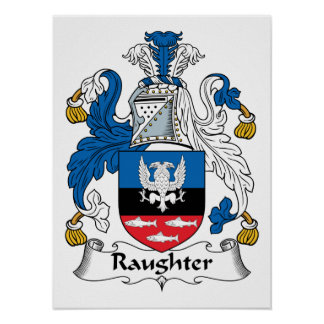 Raughter Family Crest Poster