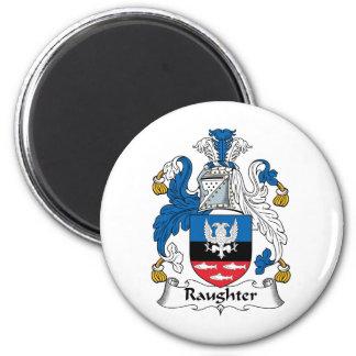 Raughter Family Crest Refrigerator Magnet