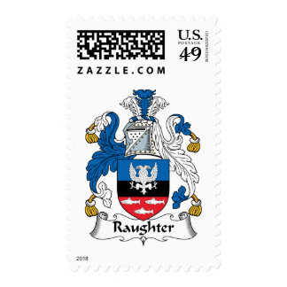 Raughter Family Crest Stamps