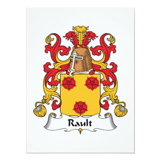 Rault Family Crest Card